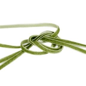 Лента бархатная 3 мм светло-зеленая (10м)