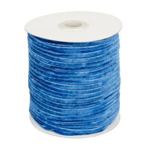 Лента бархатная 3 мм темно-голубая (200 м)