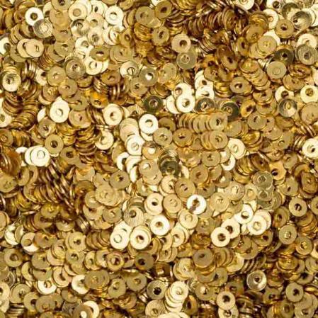 Пайетки металлические 2 мм яркое золото