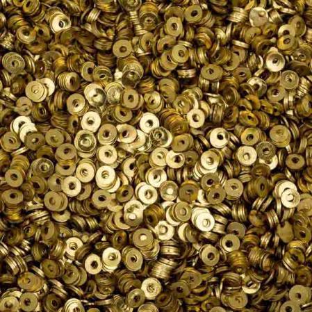 Пайетки металлические 2 мм латунь