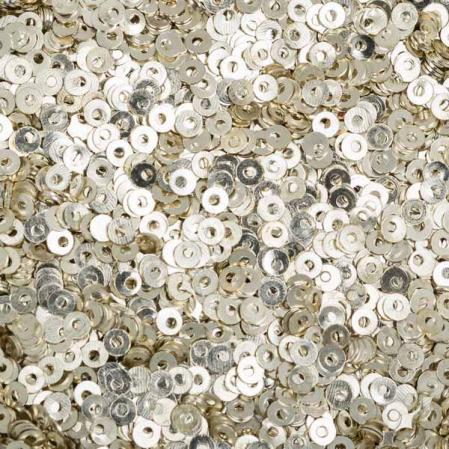 Пайетки металлические 2 мм серебро