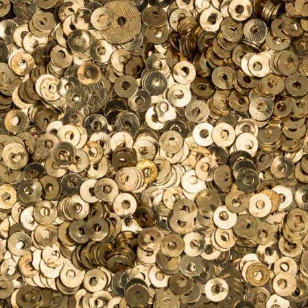 Пайетки металлические 3 мм золото
