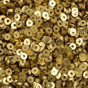Пайетки металлические 3 мм латунь