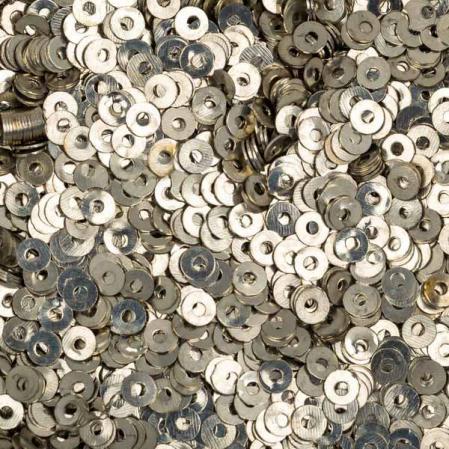 Пайетки металлические 3 мм олово