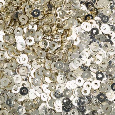 Пайетки металлические 3 мм серебро