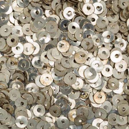 Пайетки металлические 4 мм серебро