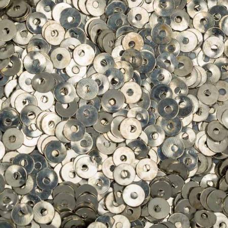 Пайетки металлические 4 мм олово