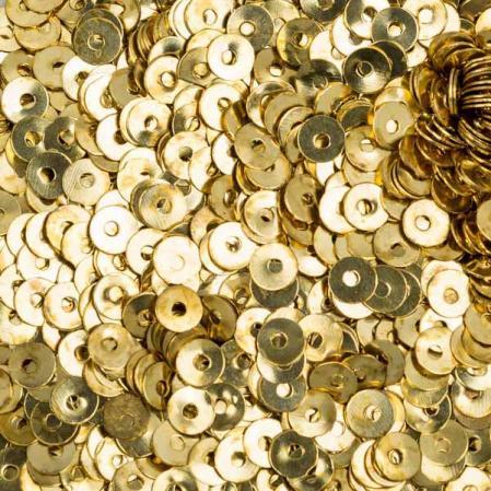 Пайетки металлические 4 мм золото