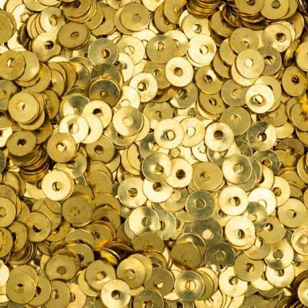 Пайетки металлические 4 мм яркое золото