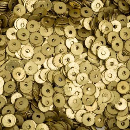 Пайетки металлические 4 мм латунь