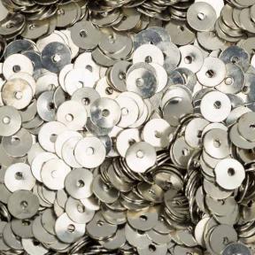Пайетки металлические 5 мм холодное серебро