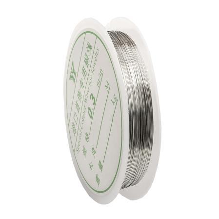 Проволока 0,3 мм серебро (28м)