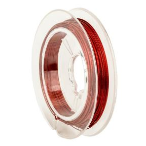 Тросик ювелирный (ланка) 0,35 мм красный