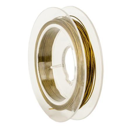Тросик ювелирный (ланка) 0,35 мм золото