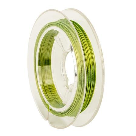 Тросик ювелирный (ланка) 0,35 мм светло-зеленый