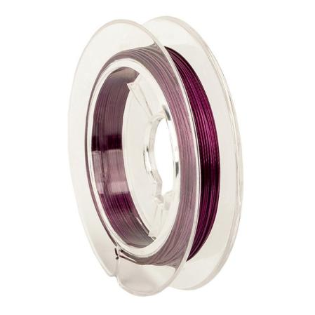 Тросик ювелирный (ланка) 0,35 мм фиолетовый