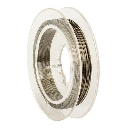 Тросик ювелирный (ланка) 0,35 мм темное серебро