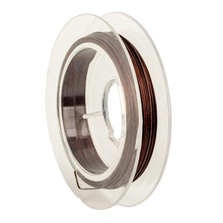 Тросик ювелирный (ланка) 0,35 мм коричневый