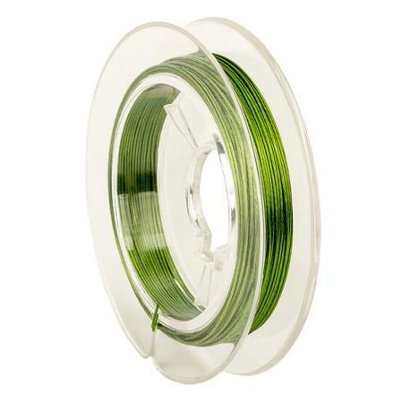 Тросик ювелирный (ланка) 0,35 мм зеленый