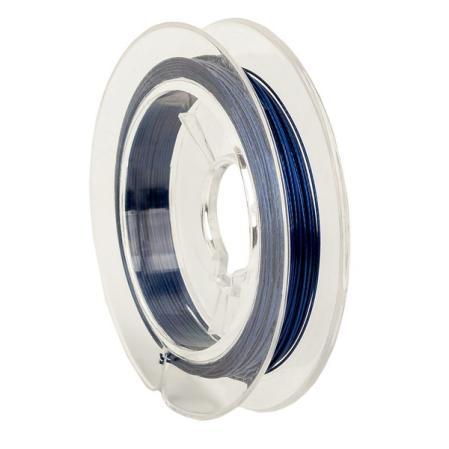 Тросик ювелирный (ланка) 0,35 мм темно-синий