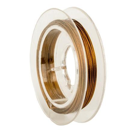 Тросик ювелирный (ланка) 0,35 мм темное золото