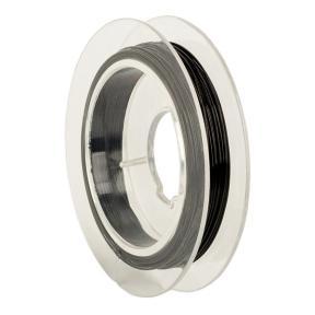Тросик ювелирный (ланка) 0,35 мм черный