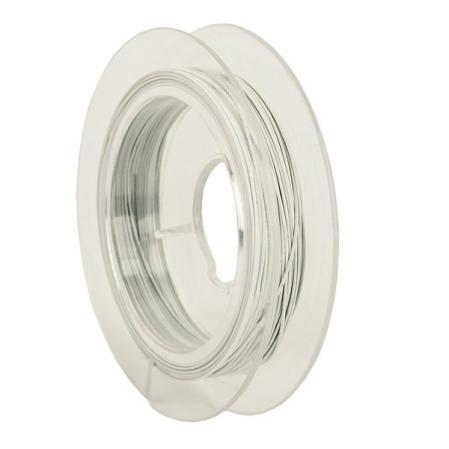 Тросик ювелирный (ланка) 0,35 мм белый