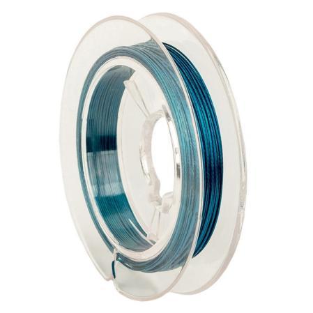 Тросик ювелирный (ланка) 0,35 мм сине-зеленый