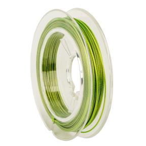Тросик ювелирный (ланка) 0,5 мм светло-зеленый