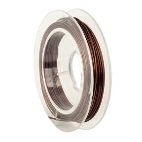 Тросик ювелирный (ланка) 0,5 мм коричневый