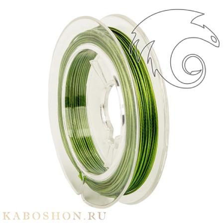 Тросик ювелирный (ланка) 0,5 мм зеленый