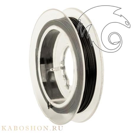 Тросик ювелирный (ланка) 0,5 мм черный