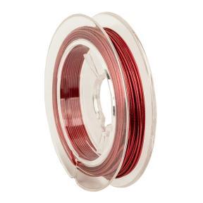 Тросик ювелирный (ланка) 0,5 мм темный розовый