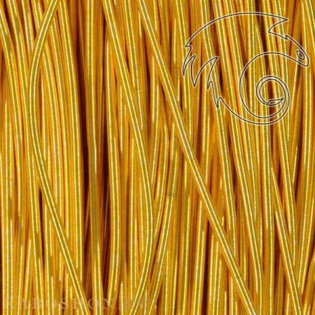 Канительмягкая 1 мм яркое золото Kan-040