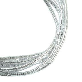 Трунцал (фигурная канитель) «бамбук» 1,5 мм серебро