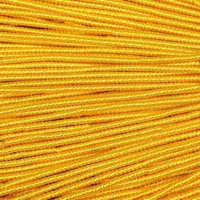 Трунцал (фигурная канитель) «бамбук» 2,1 мм ярко-желтый