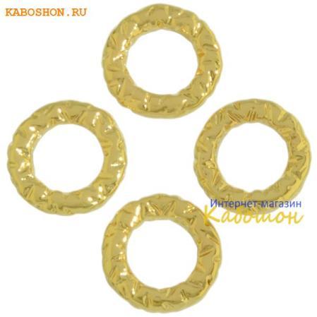 Колечко текстурное 8 мм золото