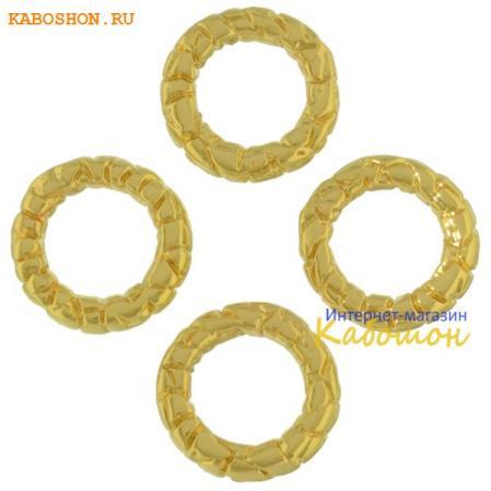 Колечко текстурное 10 мм золото