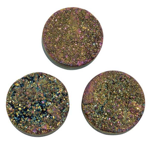 Кварц Titanium круглый 20 мм (щетка) темная радуга